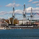 USS Constitution desde Langone Park