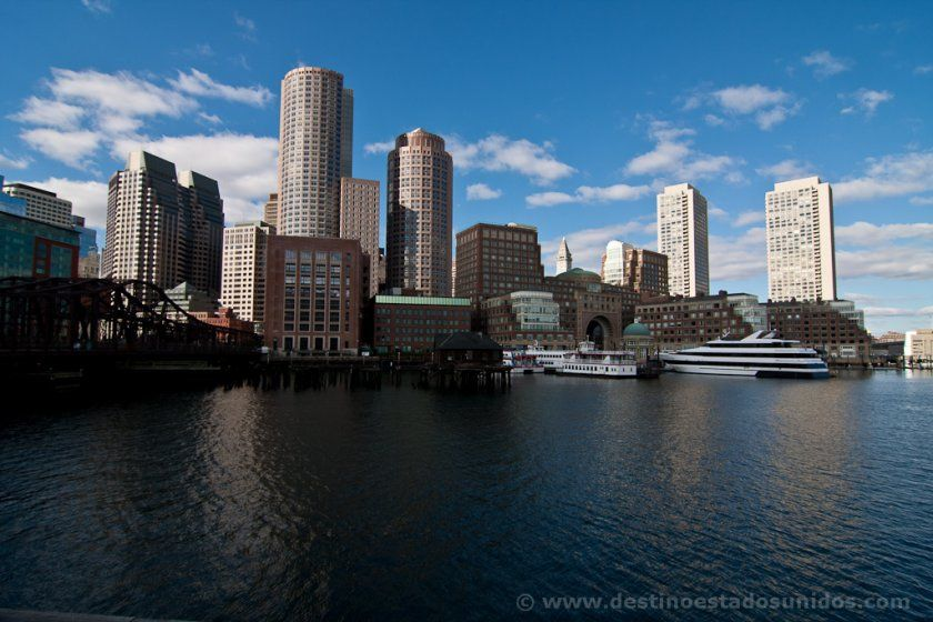 Downtown de Boston desde el puerto