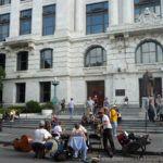 Preparándose para tocar jazz a las puertas de Supreme Court
