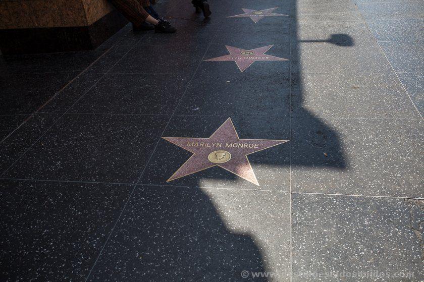 La estrella de Marilyn Monroe