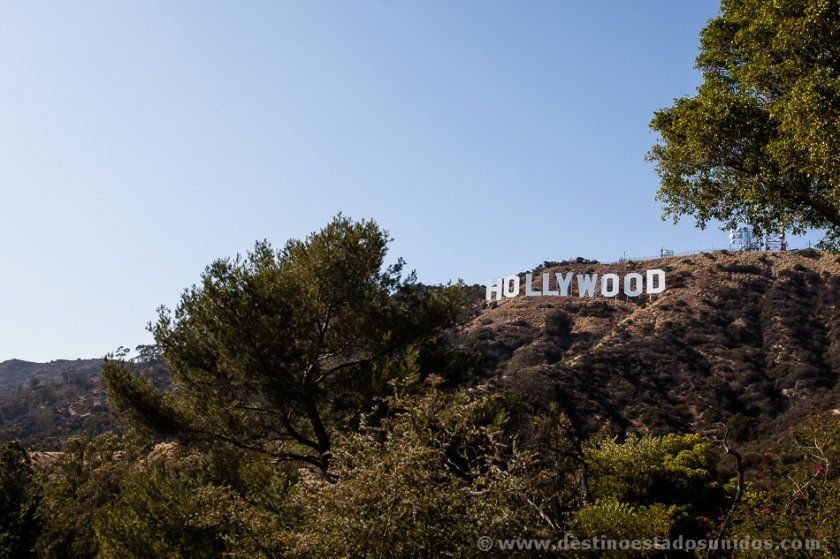 El cartel de Hollywood desde Deronda Drive