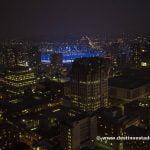 Vistas desde Vancouver Lookout de noche